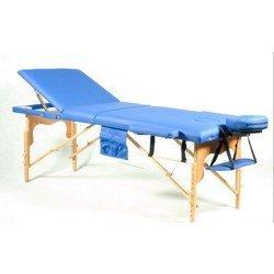 Массажный стол 3-х секционный деревянный - синий BODYFIT