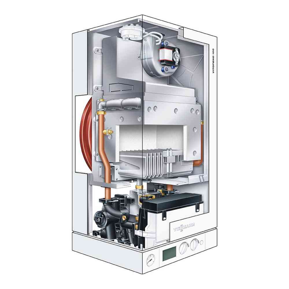 Газовый котел Viessmann Vitopend 100-W H1D 30 turbo (2 контура)